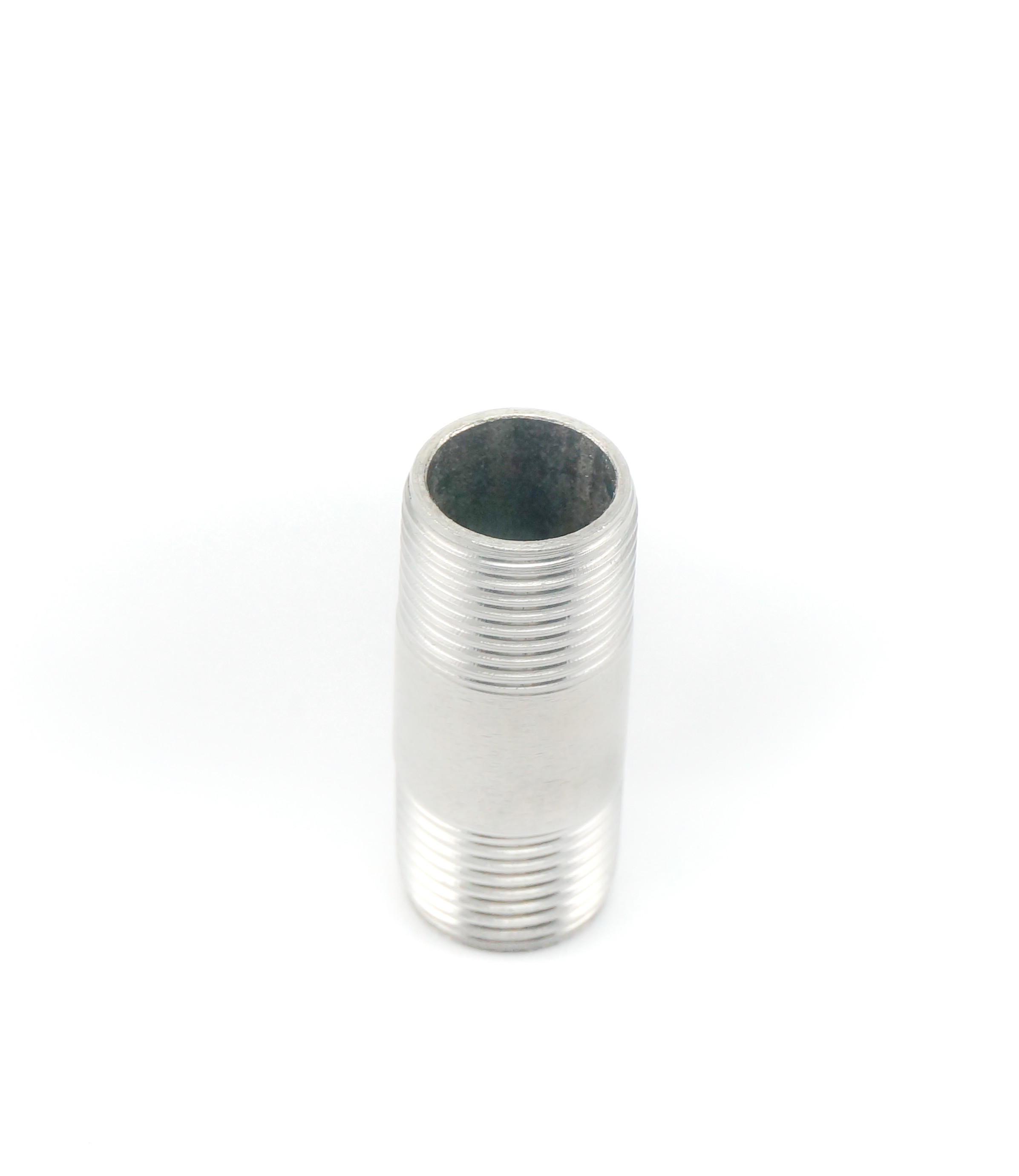 Wrought Stainless Steel Pipe Nipples , Stainless Steel Tube Fittings Smooth Surface