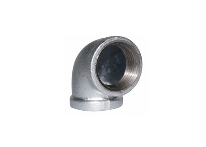 Small Malleable Iron Pipe Fittings / Butt Weld Tube Fittings Galvanized Pipe Elbows