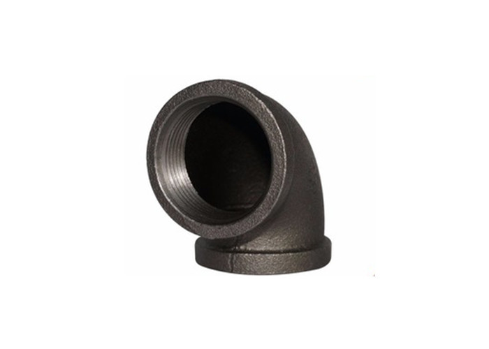 "Black Galvanized 1/2"" Npt 90 Degree Elbow Threaded Pipe Connectors Square Head Code"