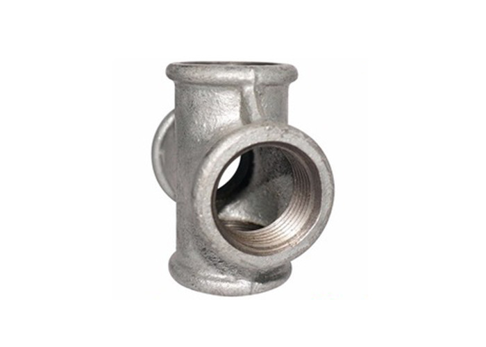 Hot Galvanized Exhaust Pipe Fitting Cross 80 90 Degree Pipe Coupler 4 Inch