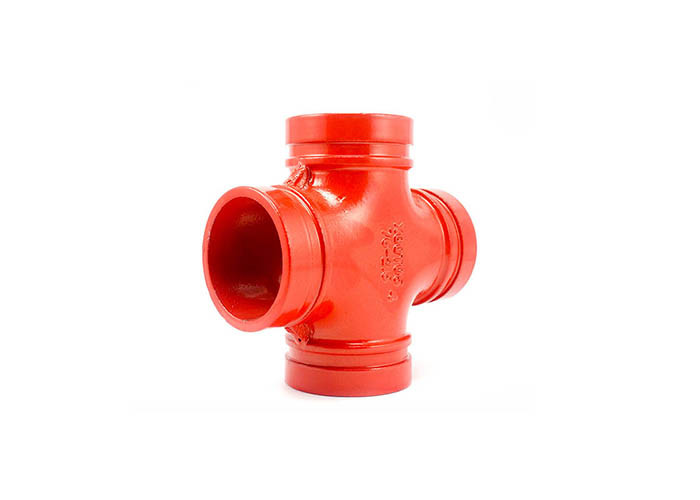 Medium Ductile Iron Coupling , Reducing Cross Pipe Fitting Shock Absorption