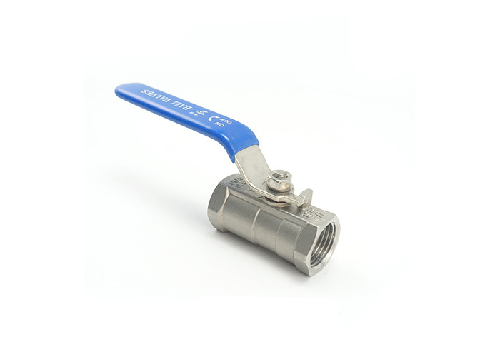 One Piece 1 Inch Stainless Steel Valves For Gas / Air Polished Surface Treatment