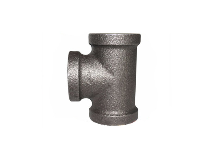 3 / 4 Inch Pipe Connector Malleable Iron Tee Cast Iron Threaded Fittings