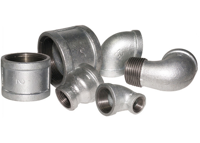 GI Plumbing 1/2 Npt Malleable Iron Pipe Fittings Gas Pipe Elbow High Hardness ANSI Standard